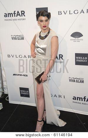 NEW YORK-FEB 5: Model Crystal Renn attends the 2014 amfAR New York Gala at Cipriani Wall Street on February 5, 2014 in New York City.