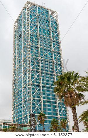 Port Olimpic Tower, Barcelona, Spain.