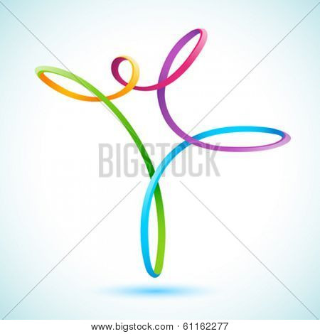 Colorful swirly figure