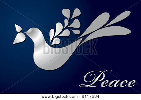 Vector Greeting Card Peace Teardrop Dove Design