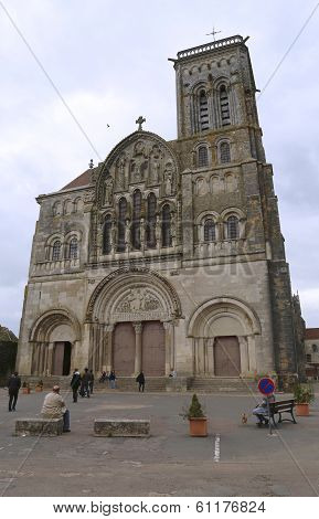 Romanesque Vezelay Abbey or Basilica of St. Mary Magdalene in Vezelay, France