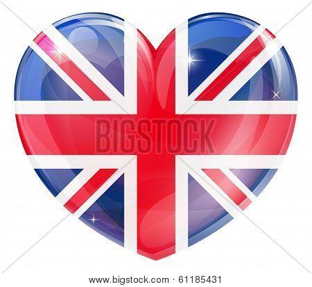 Union Jack British Heart Flag