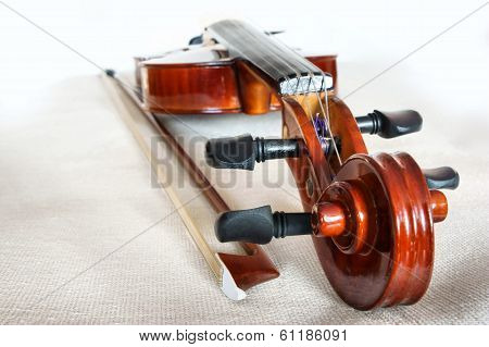 Violin and Bow.