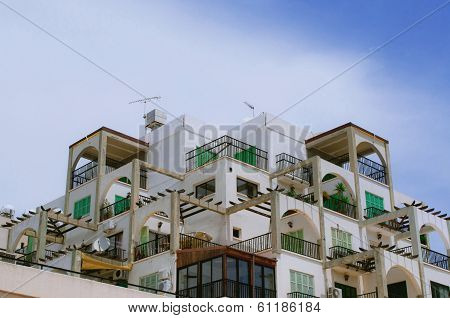 Limassol, Cyprus - April 10: Usual apartment house