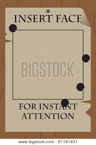 "Old Wild West Style Poster ""Insert Face"" poster"