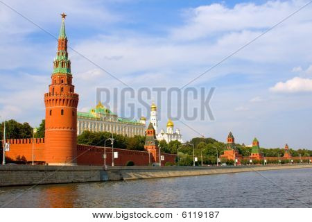 View Of The Moscow River And The Kremlin