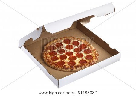 Pizza in delivery box