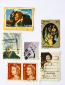 Art stamps from Australia was more than 20 years of Figures series poster