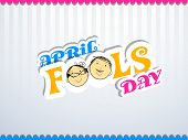 Happy Fool's Day funky concept with stylish colorful text on vintage grey background. poster