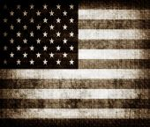 Aged grunge flag of United states of America poster