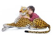 Big wild animal but toy on isolated background poster