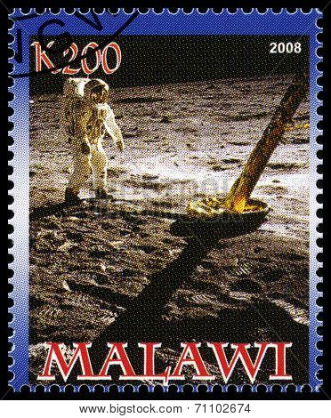 Apollo 11 Postage Stamp From Malawi