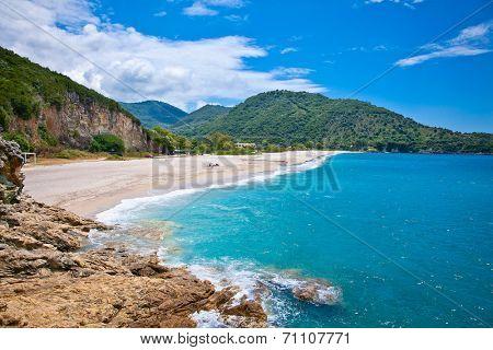 Beautiful Karavostasi beach near Syvota town. Ionian sea. Greece.