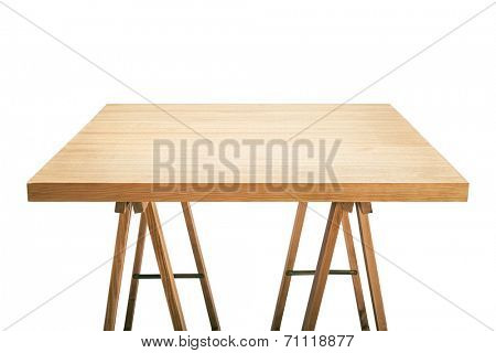 Workshop table top, isolated
