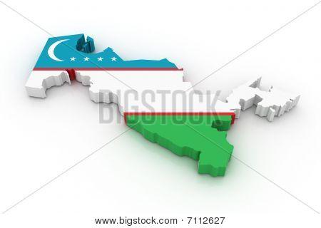 Map Of Uzbekistan