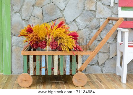 Small Pushcart With Flower