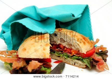 Bacon Lettuce And Tomato Sandwich And Napkin