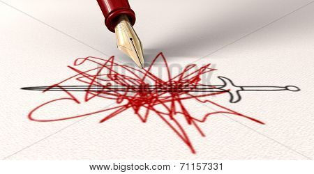 Pen Is Mightier Than The Sword