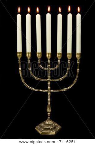 Gold Menorah Candles