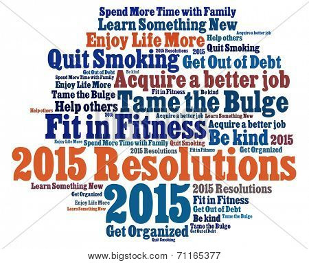 New Year  Resolutions in word collage