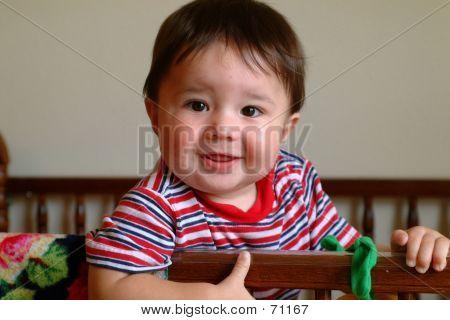 Children- Baby In Crib