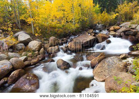 Colorado Mountain Stream Fall Landscape