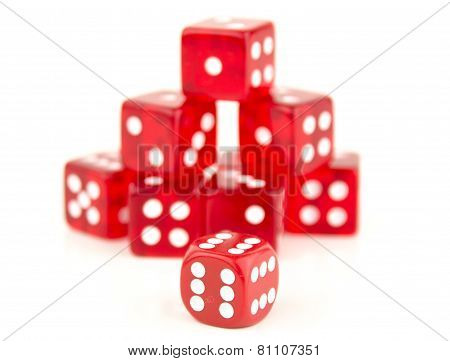 Stack Of Red Dice