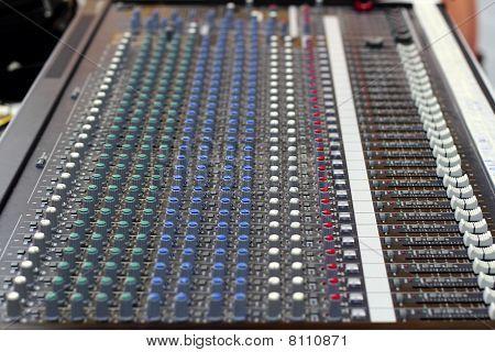 Music Mixer Control Button Perspective