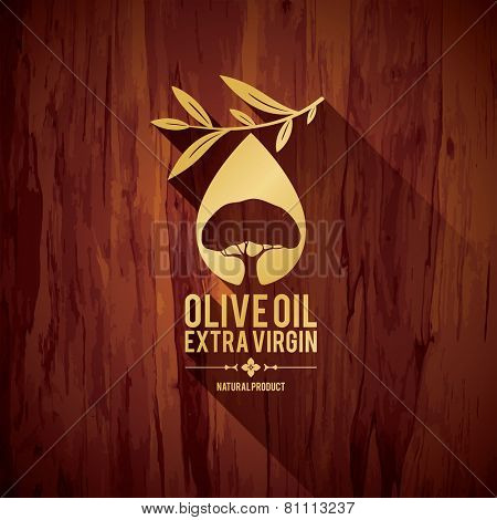 Olive label, logo design