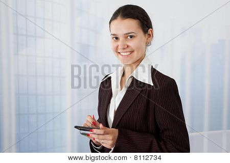 young smiling happy businesswoman
