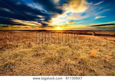 As Darkness Falls At Taberville Prairie