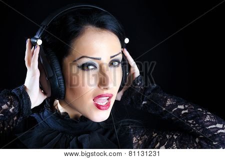 Attractive Woman With Headphones