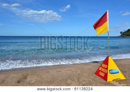 Red And Yellow Flag