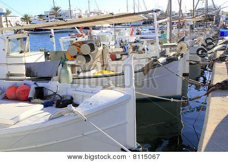 Traditional Menorquina Fisherboats Formentera Port