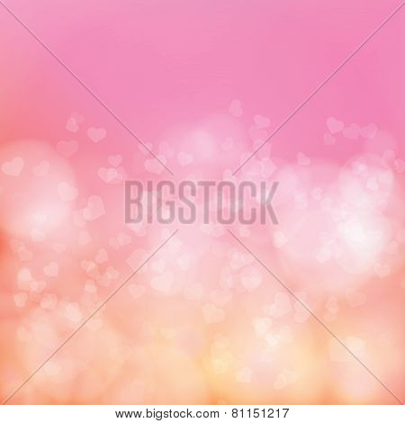 Abstract Soft Background With Hearts