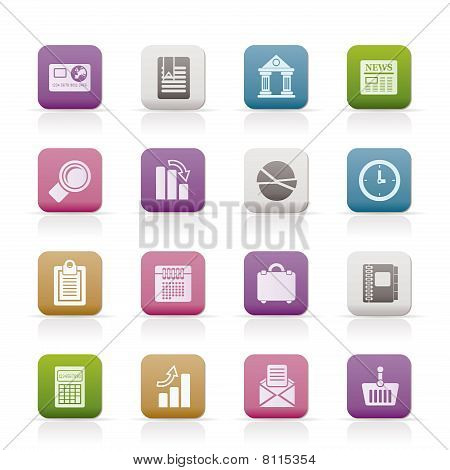 Business and Office Realistic Internet Icons