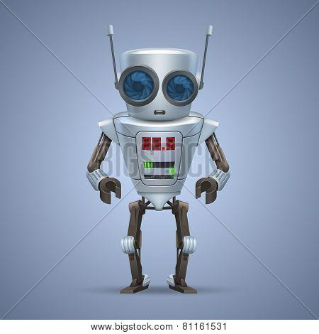 Vector metal robot.