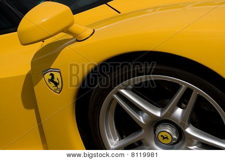 Yellow Ferrari Enzo At Goodwood Festival Of Speed