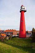 Hoek van Holland Lighthouse. Hoek van Holland South Holland Netherlands. poster