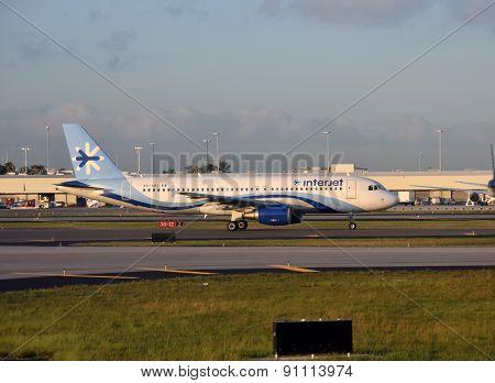 Interjet Passenger Airplane Seen In Miami