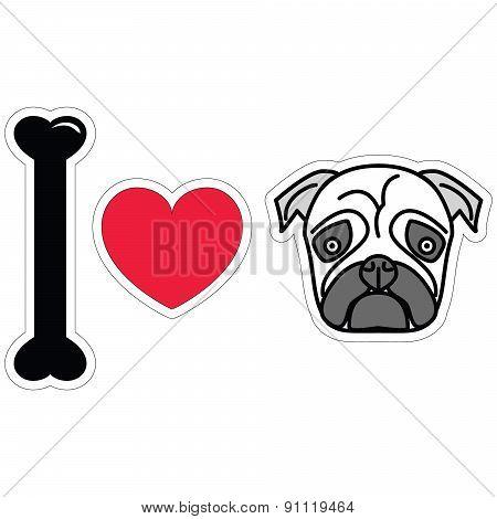 I love pugs in black plain