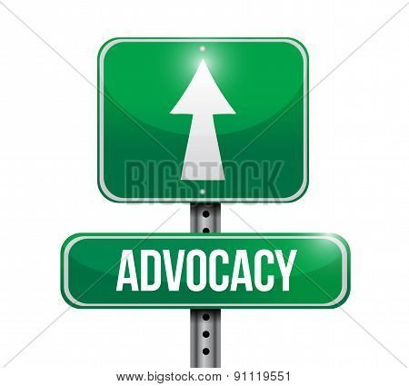 Advocacy Road Sign Concept Illustration