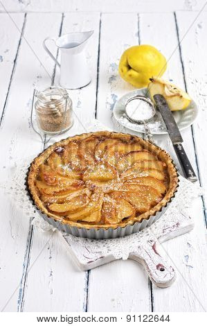 French pastry with apple - Tart aux Pommes