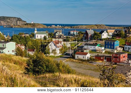 The colorful fishing village of Trinity, Newfoundland, Canada.