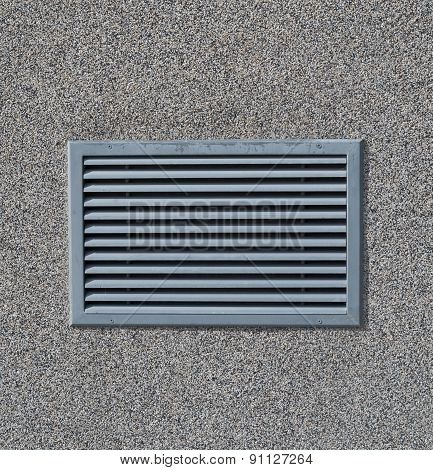 New Air Conditioning Vent On Wall