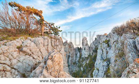 Amazing cliffs of Crimea, Ukraine