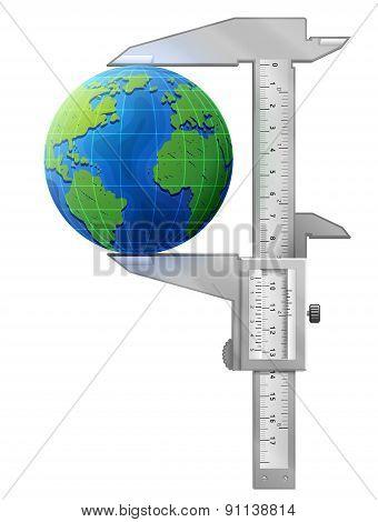 Vertical Caliper Measures Globe