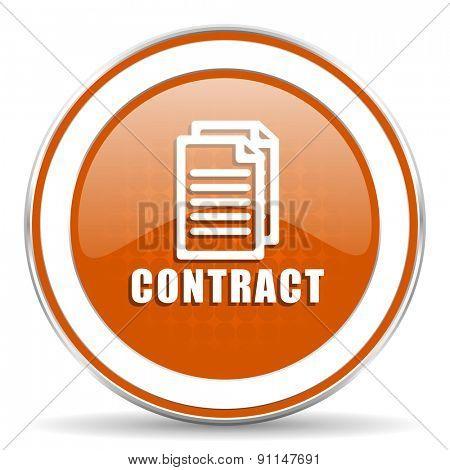 contract orange icon   poster