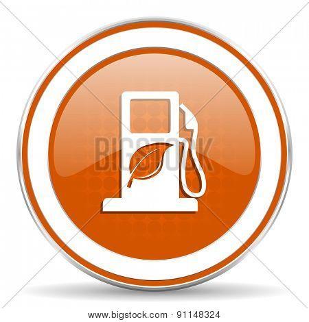 biofuel orange icon bio fuel sign