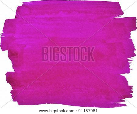 Abstract watercolor hand paint magenta texture